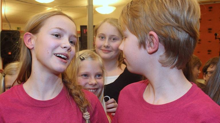 Mimerskolan vann andra semifinalen. Foto: Susanne Helsing/SR