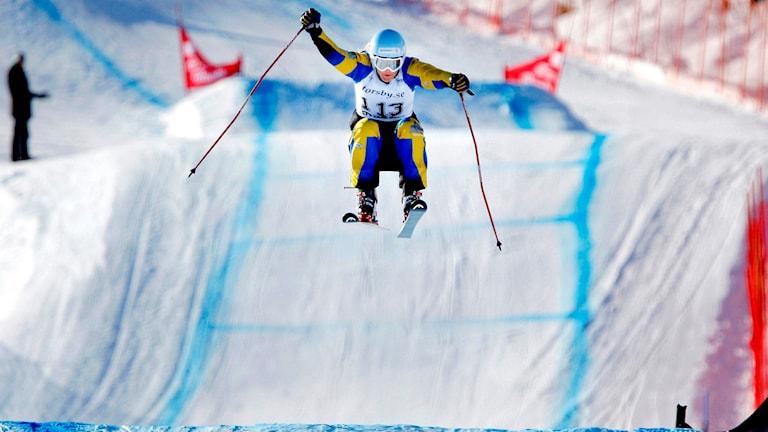 Anna Holmlund, skicross. Foto: Mattias Lundin/TT