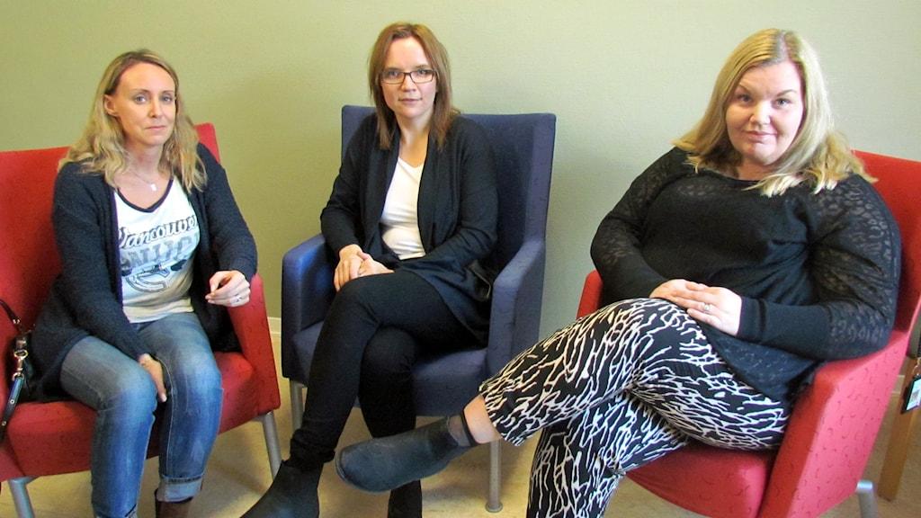 Helena Silfvergnagel, Anna Svensson och Anna Eng.