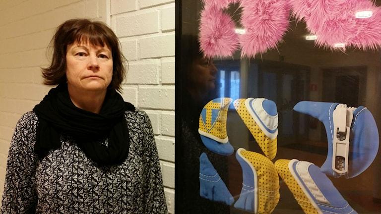 Christina Nordqvist, socialsekreterare och ordförande SSR-föreningen i Sundsvall. FOTO: Erik Nyberg/Sveriges Radio