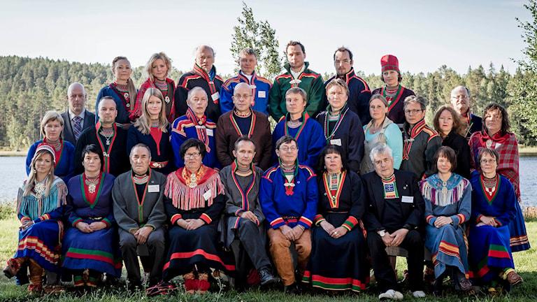 Sametingets ledamöter. Foto: Carl-Johan Utsi