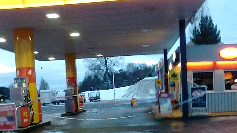 Timebutiken i Nyland utsattes för rån i går kväll. Foto: Andreas Söderberg Vestin