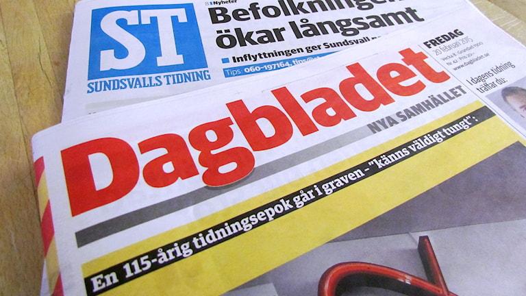 Dagbladet läggs ner prenumeranterna får ST Sundsvalls Tidning istället. Foto: A-C Carlsson/SR