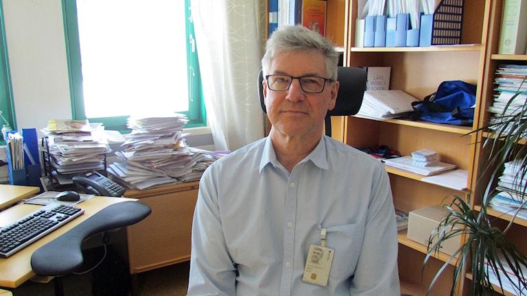 Hans Boman, smittskyddsläkare i Västernorrland. Foto: Camilla Bengtsson/SR
