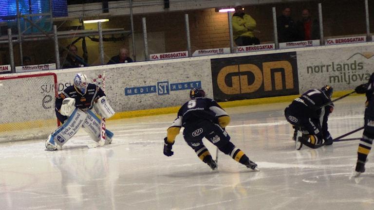 Sundsvall förlorade för fjärde gången den här säsongen mot Mora. Foto: Carl-Johan Hölby