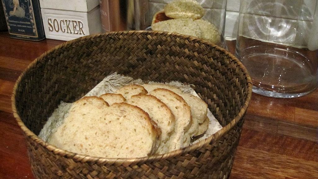 Vanligt bröd innehåller mer socker än man tror. Foto: Ann-Charlotte Carlsson/SR