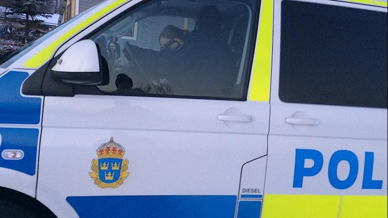 Polisbil. Foto Ulla Öhman/SR