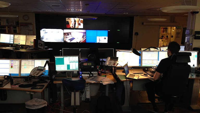 Polisens kommunikationscentral i Sundsvall. Foto: Christer Sunesson/Sveriges Radio