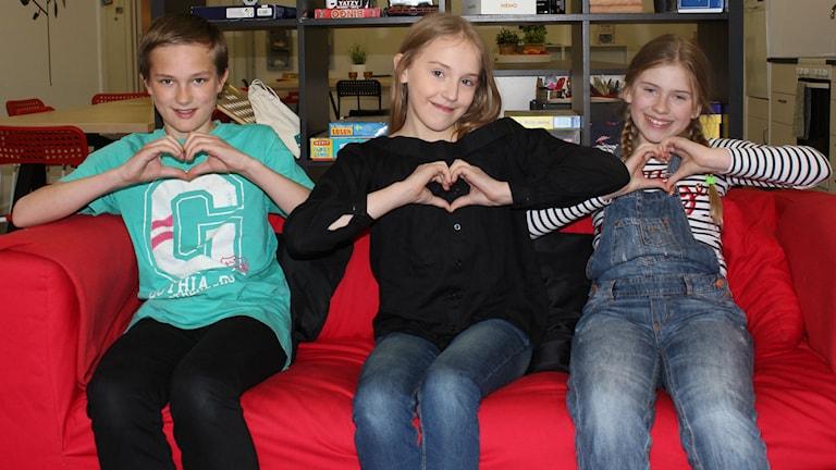 Juniorpanelen pratar kärlek. Foto: Niklas Axelsson/Sveriges Radio