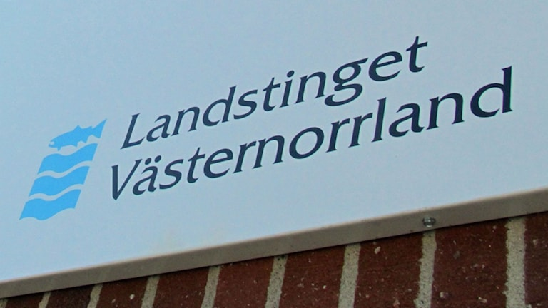 Skylt Landstinget Västernorrland