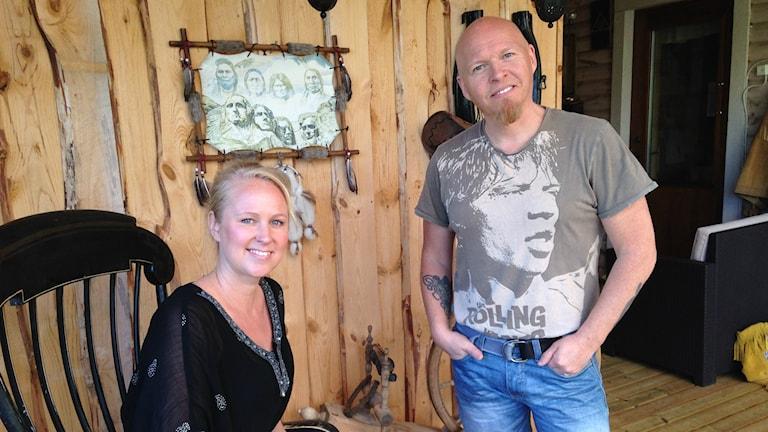 Linda Engström och Robert Johansson i Crash n Recovery. Foto: Viktor Åsberg/Sveriges Radio