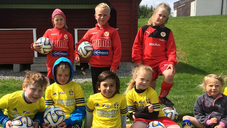 Sunds IF är en av klubbarna som arrangerar Landslagets fotbollsskola. Foto: Christer Jonasson/SR
