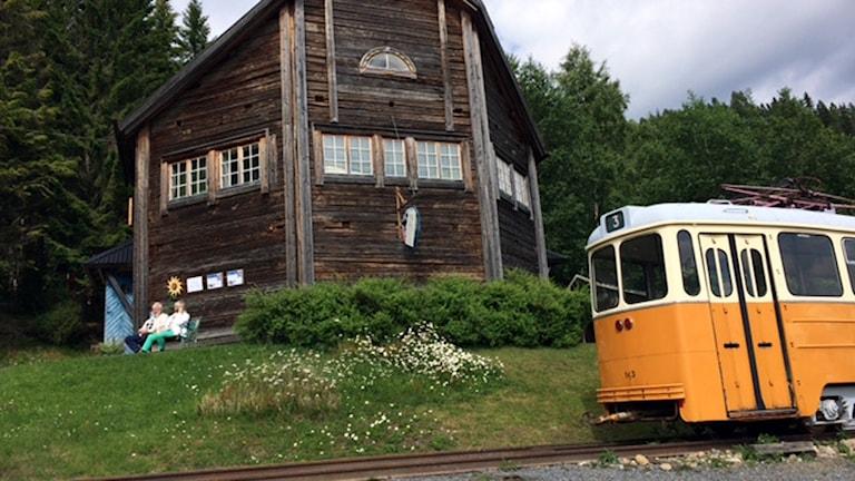Spårvagn i Mannaminne. foto: Klas Ullerstam/SR