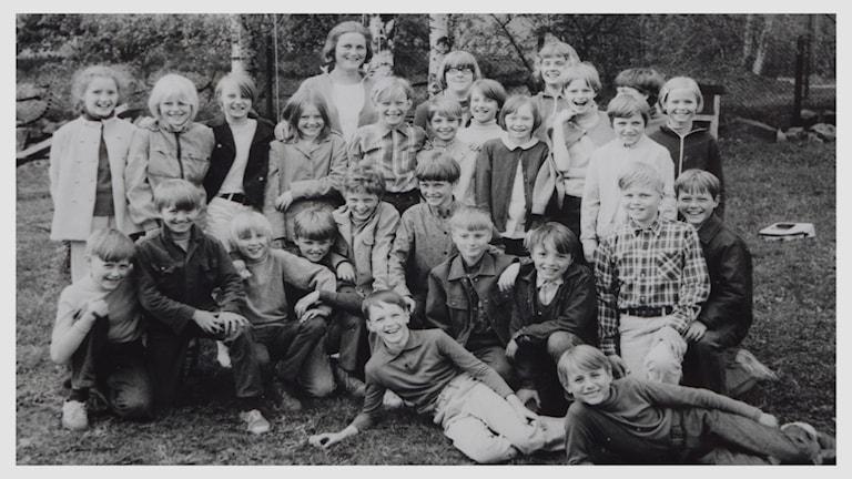 Klass 6A på Kramforsskolan 1970.