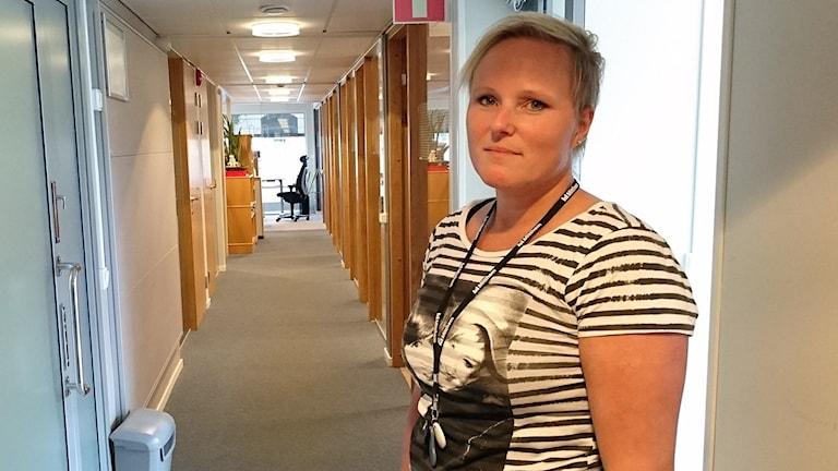 Camilla Hjältman, kundservicechef Mitthem. Foto: Annelie Ledin/SR