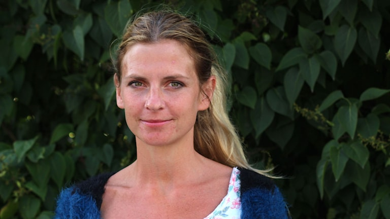 Liza-Maria Norlin (KD) i Sundsvall. Foto: Ann-Charlotte Carlsson/SR