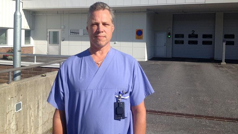 Per Bergman, enhetschef på Sundsvalls sjukhus akutmottagning. Foto: Billy Abraha/SR