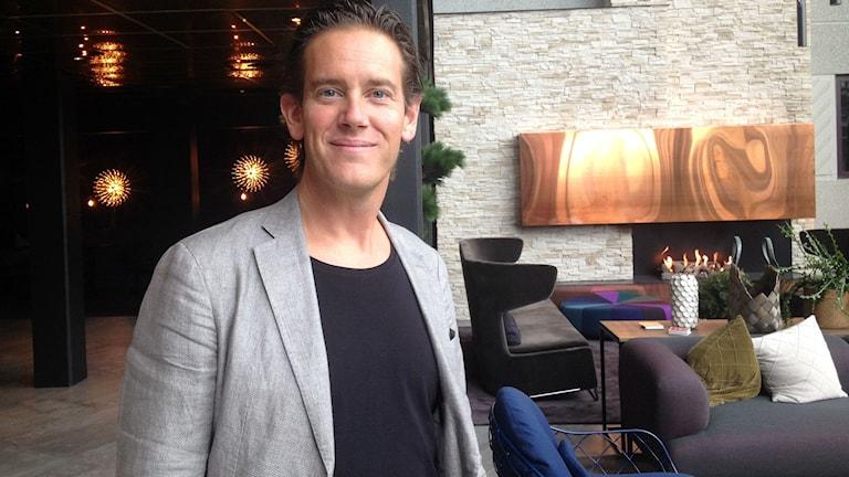 Patrik Attini, ägare av Hotell Södra Berget.
