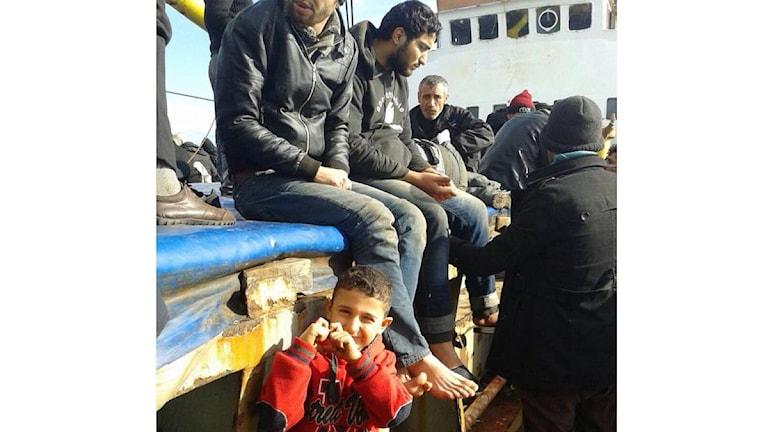 Ombord på fartyget fanns ca 400 flyktingar. Foto: Privat