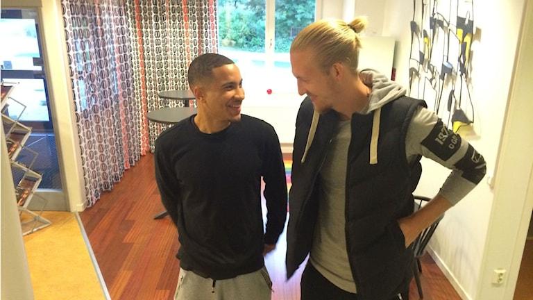 Charles Barton och Willam Gutenius. Foto: TullaMaja Fogelberg/Sveriges Radio