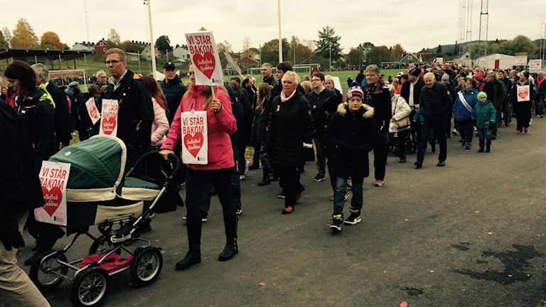 Så här såg det ut i Kramfors i oktober. Nu vä'ntar en ny manifestation i Härnösand. Foto: Lennart Sundwall