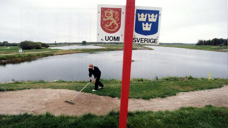 Gränsen mellan Sverige och Finland. Foto Lars Pehrson/TT