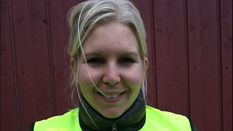 Madeleine Blom, projektledare för Vintercyklist.
