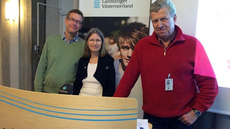 Erik Lövgren, Eva Andersson och Lars-Gunnar Hultin.