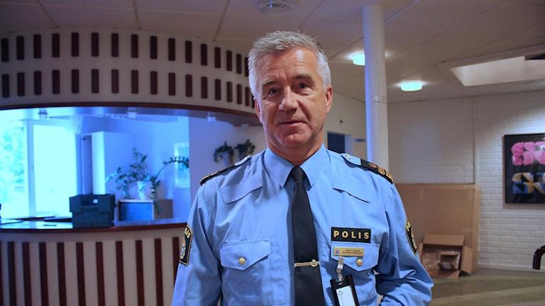 Börje Öhman, informationschef vid polisen i Västernorrland. Foto: Aila Stefansdotter-Franck/SR