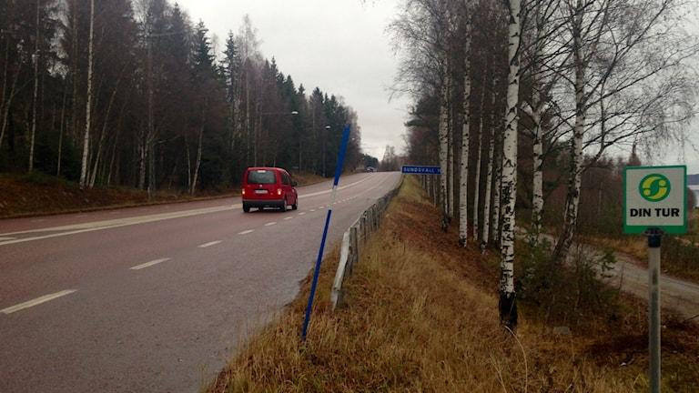 Gamla E4 Svartvik söder om Sundsvall