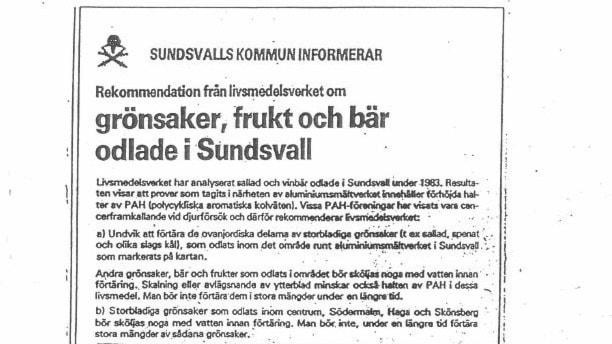 Annons Sundsvalls tidning om PAH.