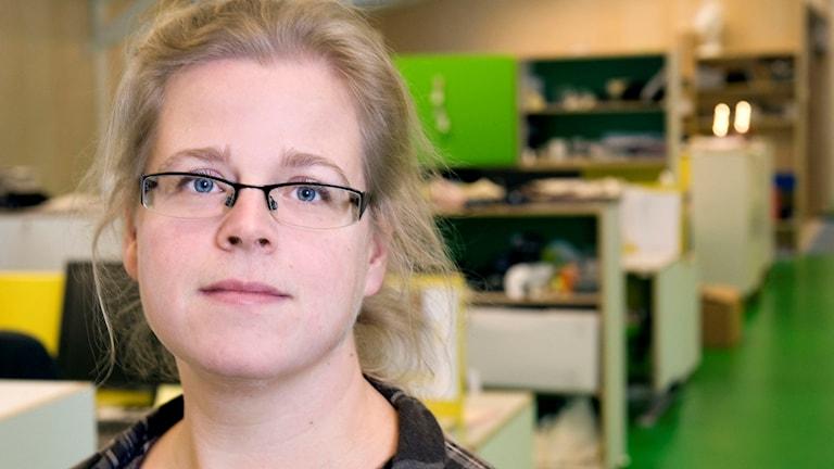 Elin Andersson, chef vuxenredaktionen på Utbildningsradion. Foto: Johan Bergmark/UR