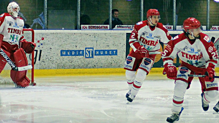 Det blev seger för Timrå mot Västerås 4-1. Foto: Carl-Johan Höiby/SR