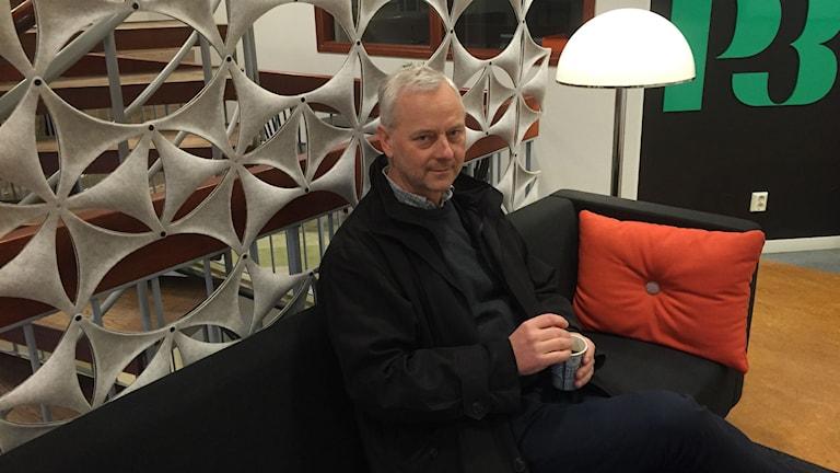Stafettgästen Thomas Granfeldt. Foto: Niklas Axelsson/Sveriges Radio