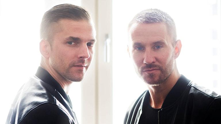 Linus Eklöw och Christian Bloodshy Karlsson gör musik som duon Galantis. Foto: Fredrik Strandberg/TT