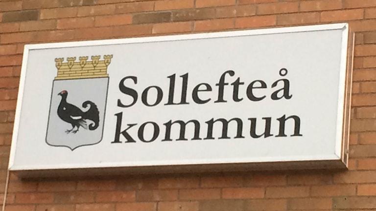 Skylt Sollefteåkommunhus