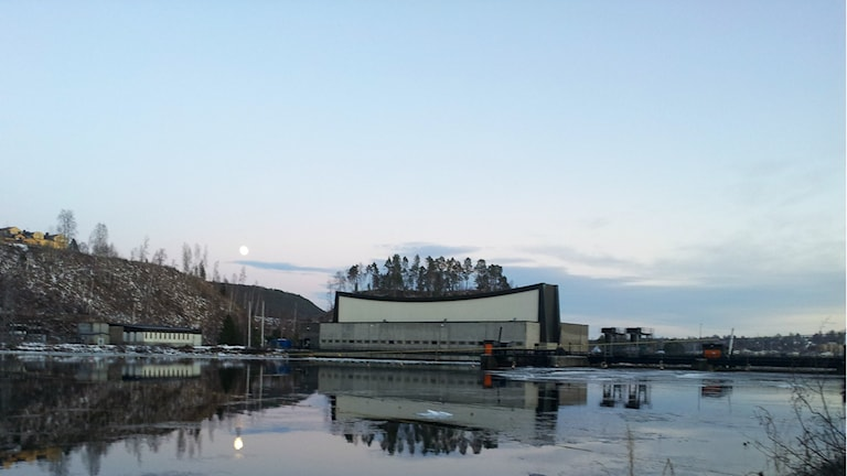 Vattenkraftsdammen i Sollefteå. Foto: Peter Hansson/Sveriges Radio