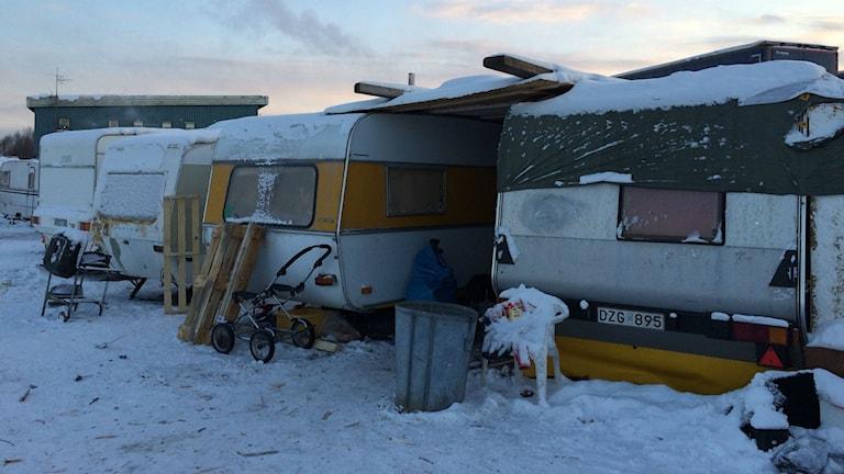 Migrantlägret i Sundsvall