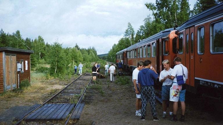 Inlandsbanan vid Sörtjärn, Jämtland. Hur många använder ordet rälsbuss idag ?