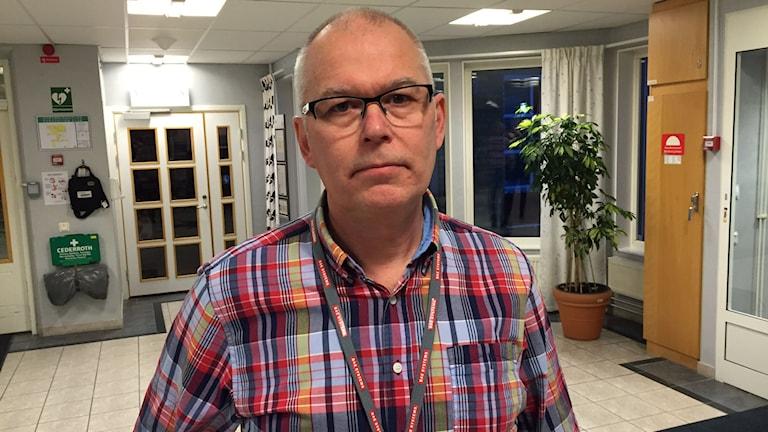 Ulf Strandberg, fackligt ombud IF Metall på BAE Systems Hägglund. Foto: Viktor Åsberg/SR