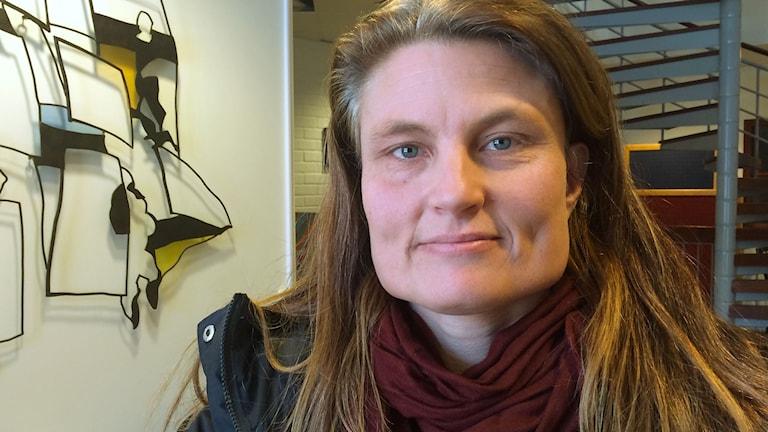 Malin Edberg, föräldrarepresentant i skolrådet på Hagaskolan. Foto: Ingrid Engstedt Edfast/SR