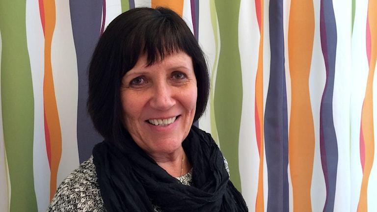 Rektor Eva Engström på Hagaskolan i Sundsvall. Foto: Ingrid Engstedt Edfast/SR