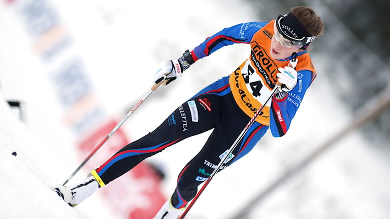 Ebba Andersson tog sensationellt silver i damernas 10 kilometer klassiskt. Foto: Robert Nyholm/TT
