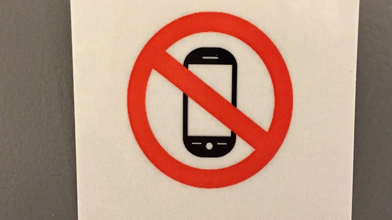 Mobilförbud gäller på alla lektioner Foto: Ingrid Engstedt Edfast/SR