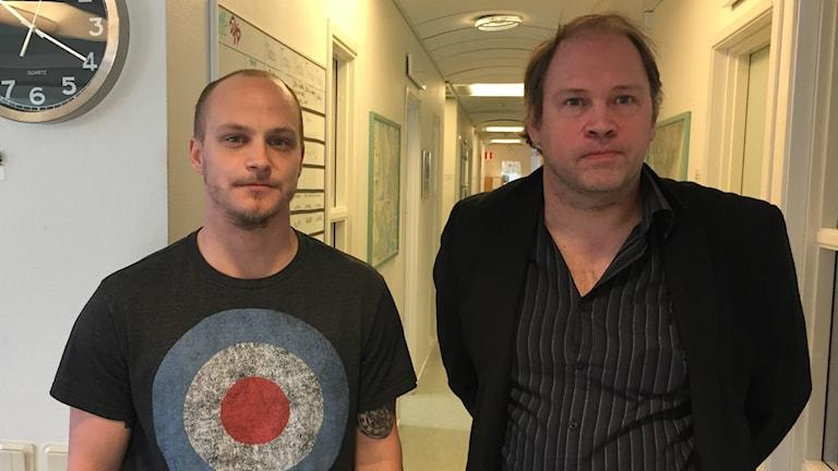 Markus Ståhl och Micael Ling. Foto: Oliver Bergman/Sveriges Radio