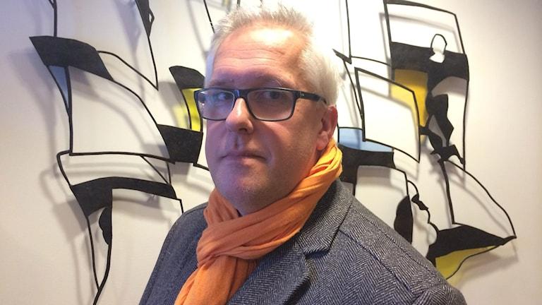 Erik Sandberg, lokal samordnare för projektet Make Sense. Foto: TullaMaja Fogelberg/Sveriges Radio