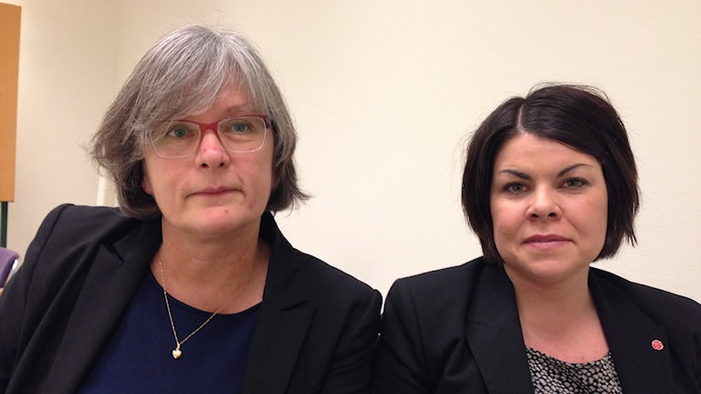 Silvia Sandin Viberg och Malin Larsson.