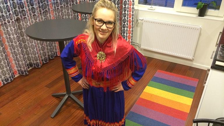 Lina Norberg Juuso i karesuandokolt. Foto: TullaMaja Fogelberg/Sveriges Radio