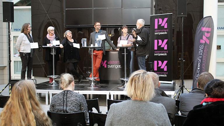 Debatt om kultur i Kulturmagasinet i Sundsvall.