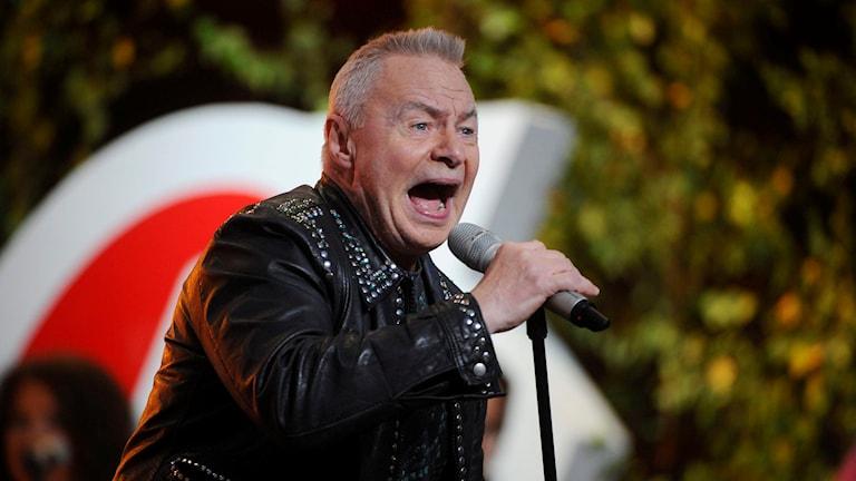Jerry Williams vid ett framträdande på Allsång på Skansen. Foto: Fredrik Sandberg/TT